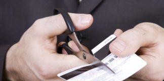 разрезание кредитной карты