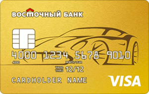 кредитная карта восточный банк автокарта