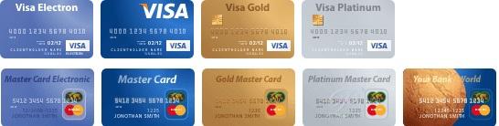 карты виза и мастеркард