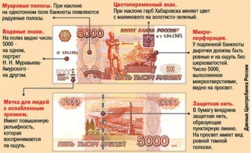 Изображение - Может ли банкомат принять фальшивую купюру kak-opredelit-falshivost-5000-kupyury-500x305